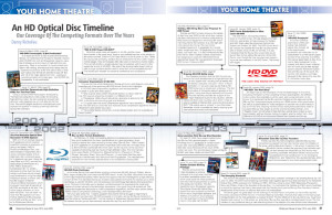 Widescreen Review Issue 132 Layout Example, featuring an illustrated timeline
