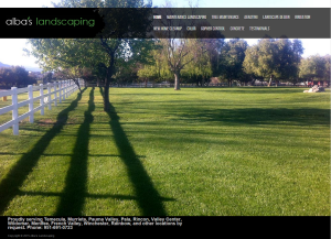 Alba's Landscaping branding and web design
