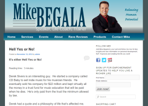 Mike Begala site design and branding