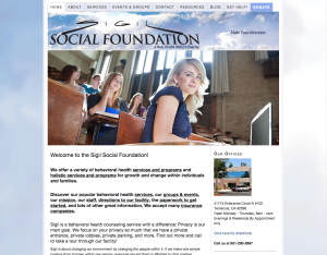 Sigil Social Foundation non-profit web design