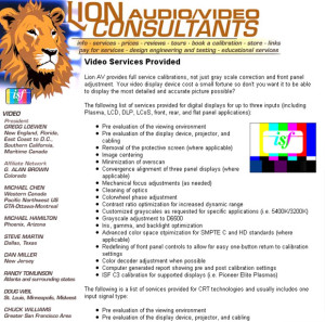 Lion Audio Video Consultants web design and programming