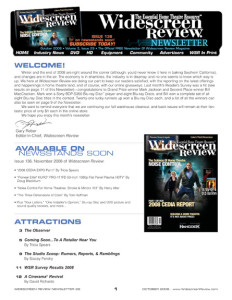 Widescreen Review E-Newsletter