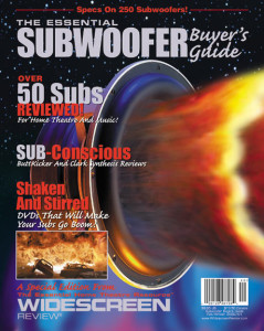Essential Subwoofer Buyer's Guide Cover and Illustration, the largest special edition until the next DVD Movie Guide