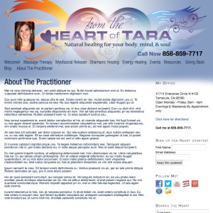 From The Heart of Tara web design and programming