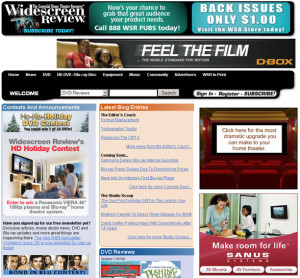 Widescreen Review  magazine web design
